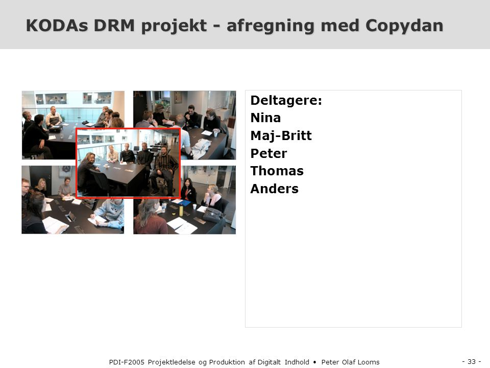 KODAs DRM projekt - afregning med Copydan