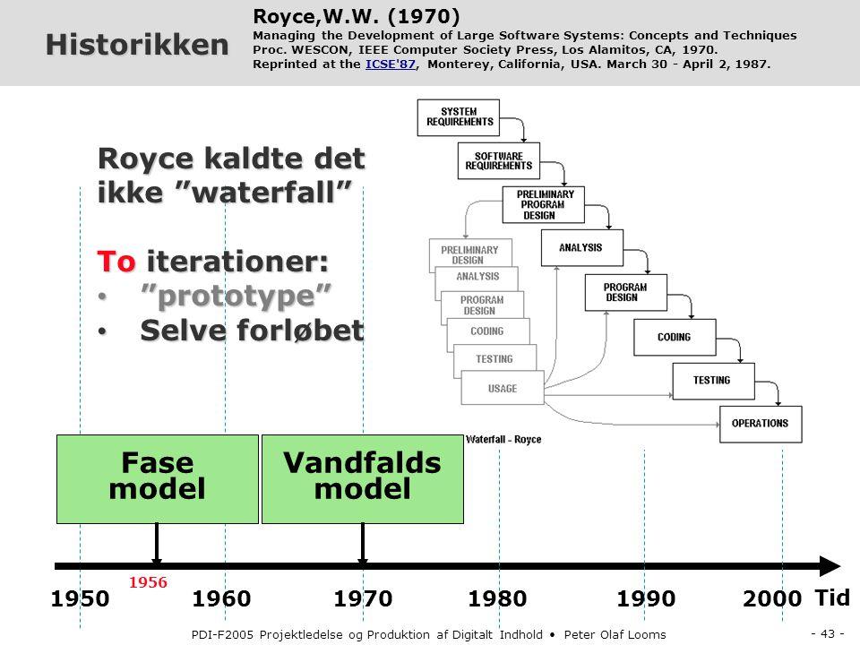 Fase model Vandfalds model