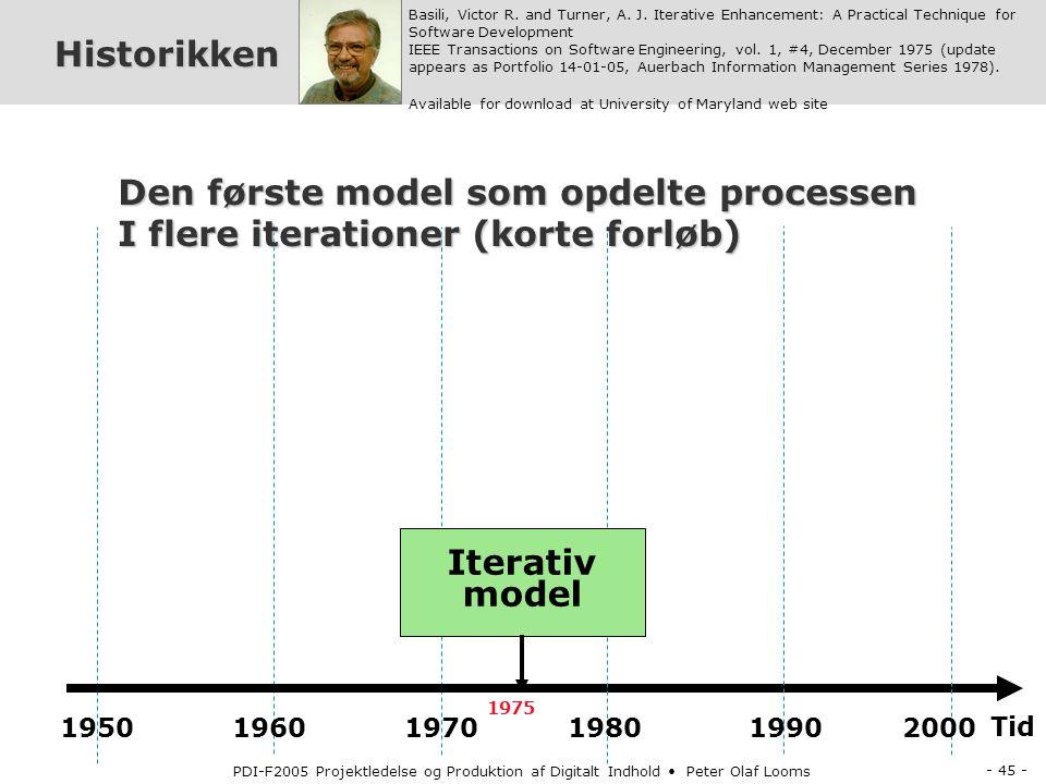 Den første model som opdelte processen