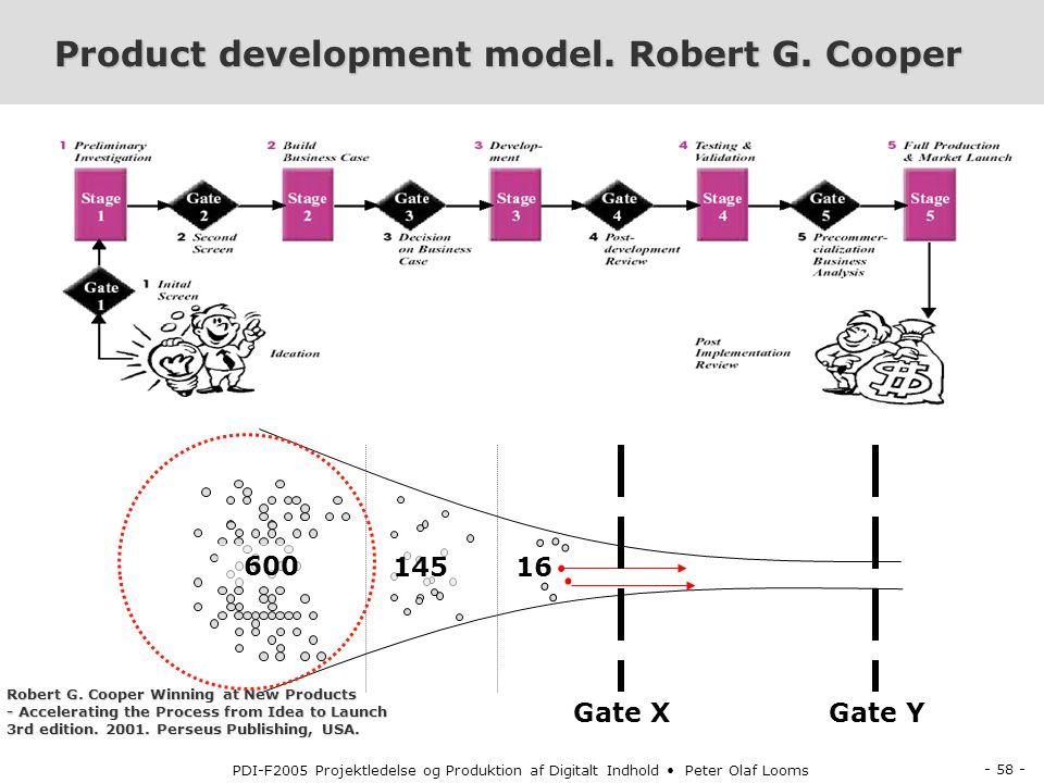 Product development model. Robert G. Cooper
