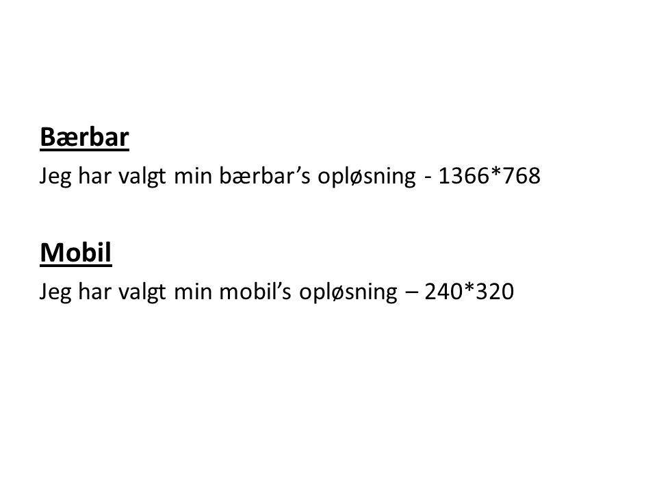 Bærbar Mobil Jeg har valgt min bærbar's opløsning - 1366*768