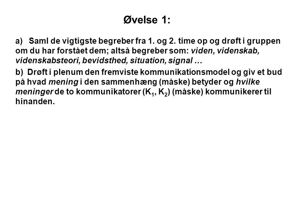 Øvelse 1: