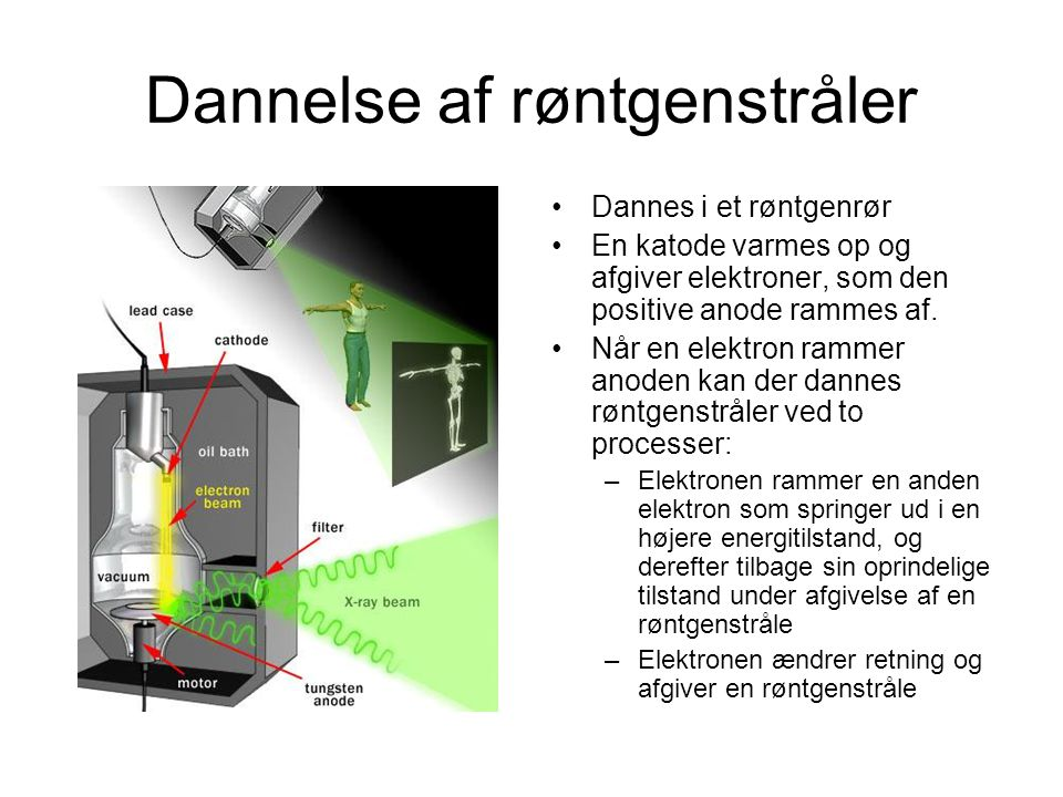 Dannelse af røntgenstråler