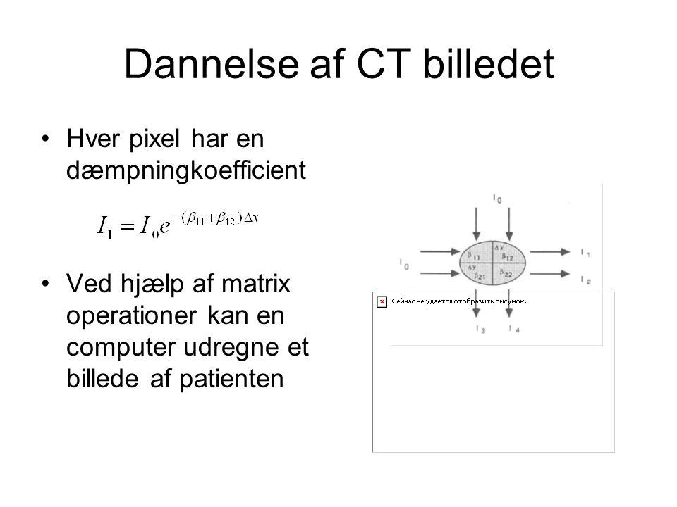 Dannelse af CT billedet