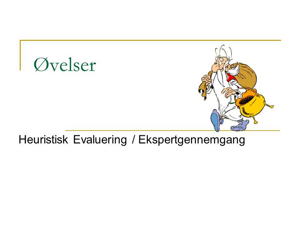 Heuristisk Evaluering / Ekspertgennemgang