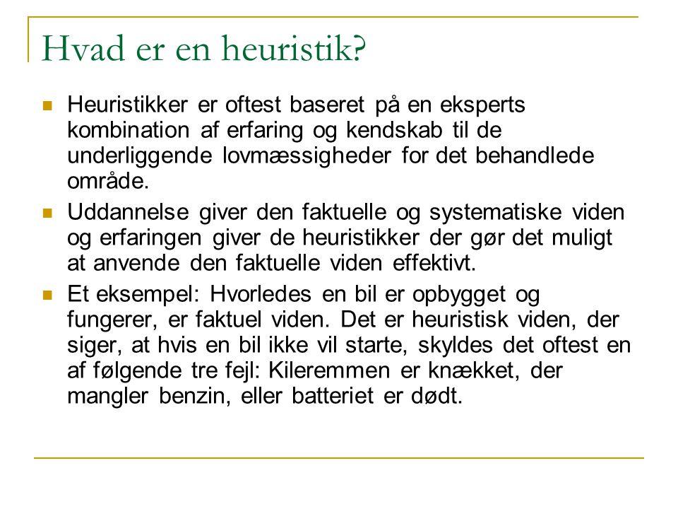 Hvad er en heuristik