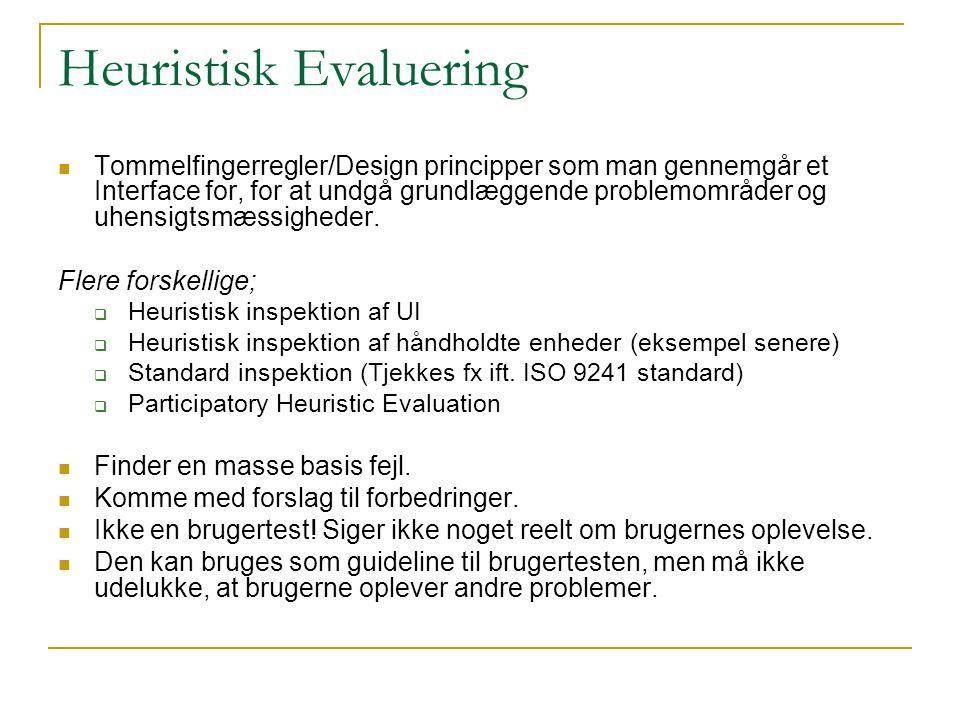 Heuristisk Evaluering