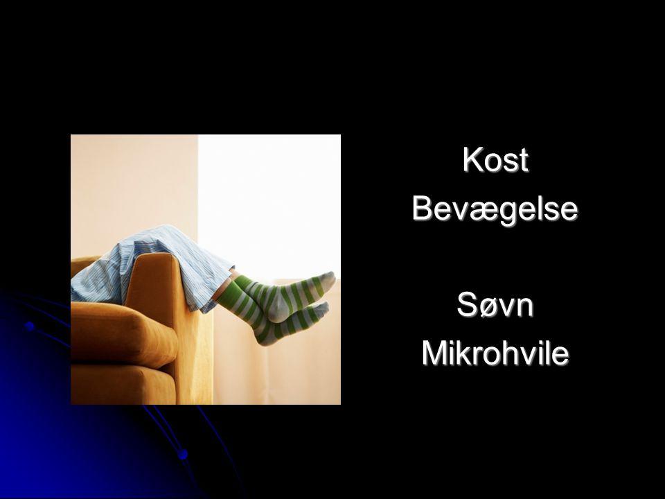 Kost Bevægelse Søvn Mikrohvile