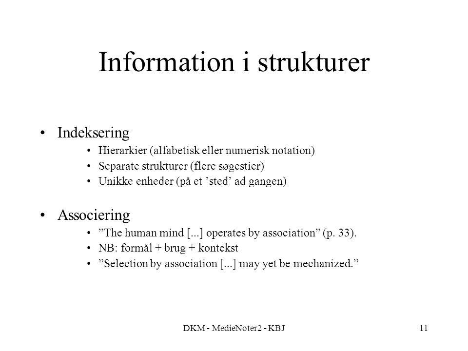 Information i strukturer