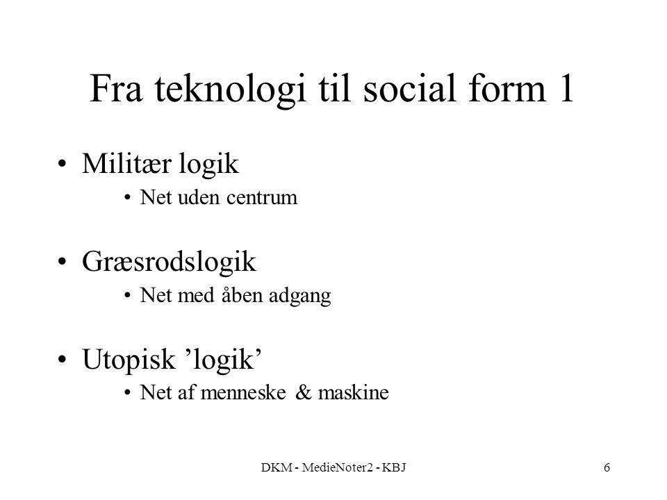 Fra teknologi til social form 1
