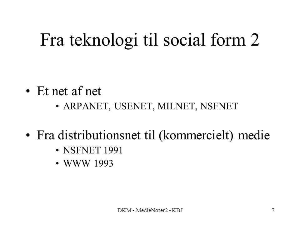 Fra teknologi til social form 2