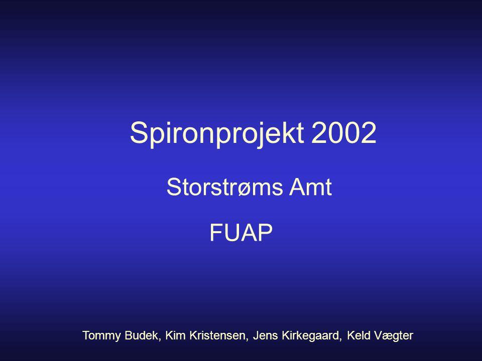 Spironprojekt 2002 Storstrøms Amt FUAP