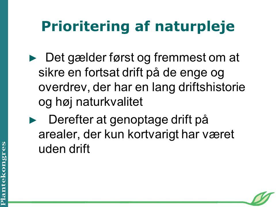 Prioritering af naturpleje