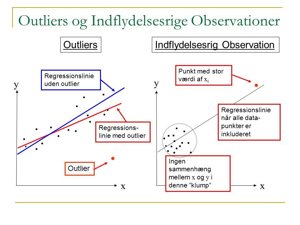 Outliers og Indflydelsesrige Observationer