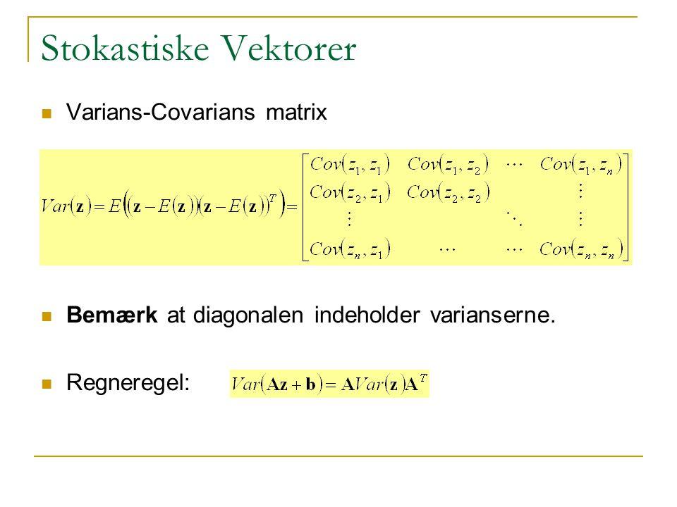 Stokastiske Vektorer Varians-Covarians matrix
