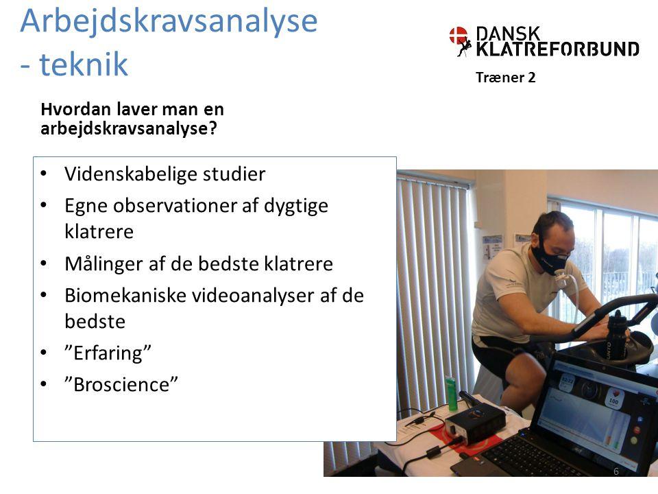 Arbejdskravsanalyse - teknik