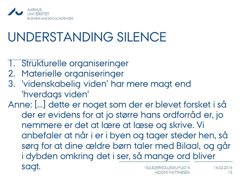 Understanding silence