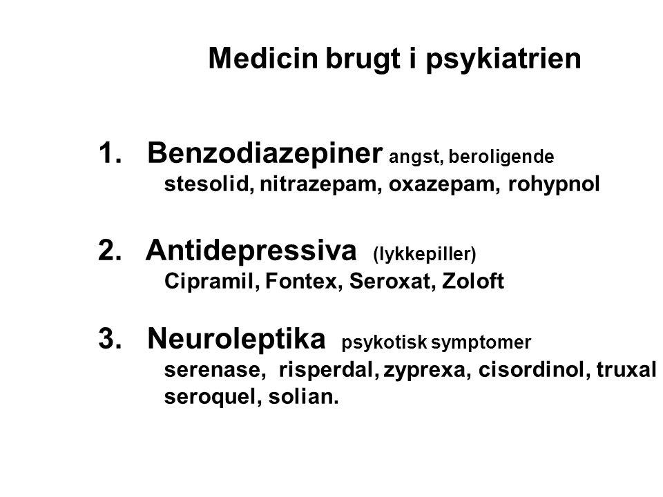 Medicin brugt i psykiatrien