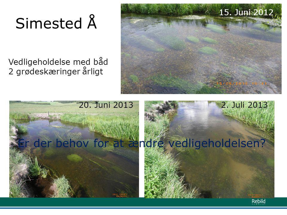 Simested Å Er der behov for at ændre vedligeholdelsen 15. Juni 2012