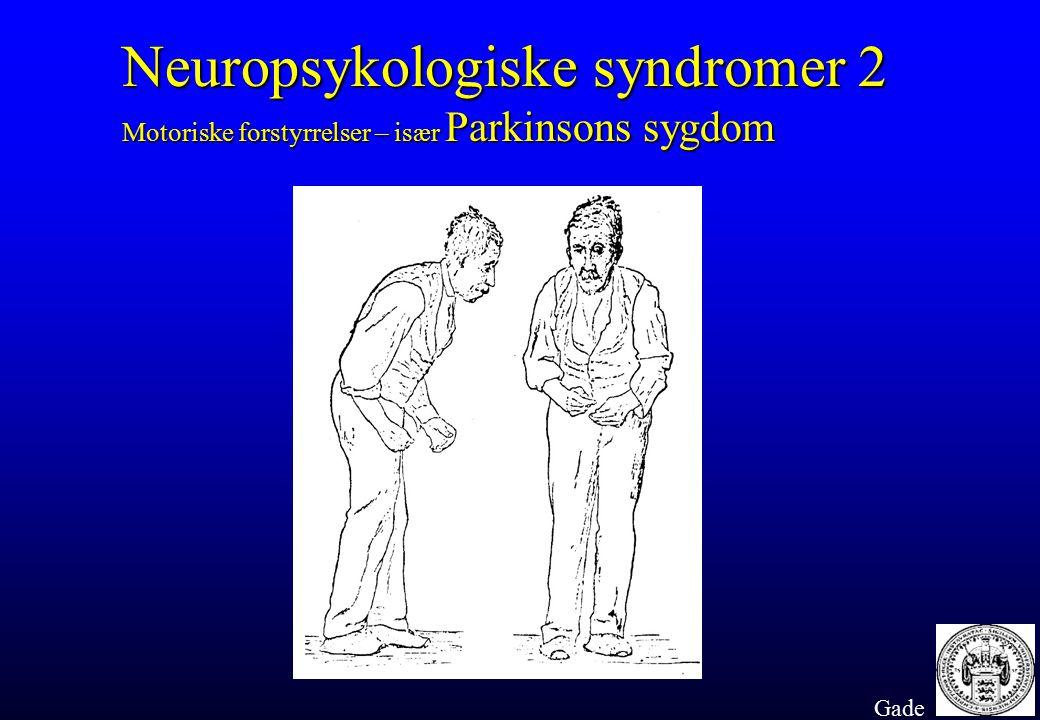Neuropsykologiske syndromer 2