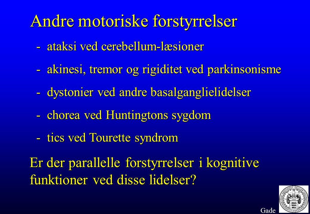 Andre motoriske forstyrrelser