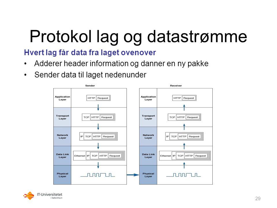 Protokol lag og datastrømme