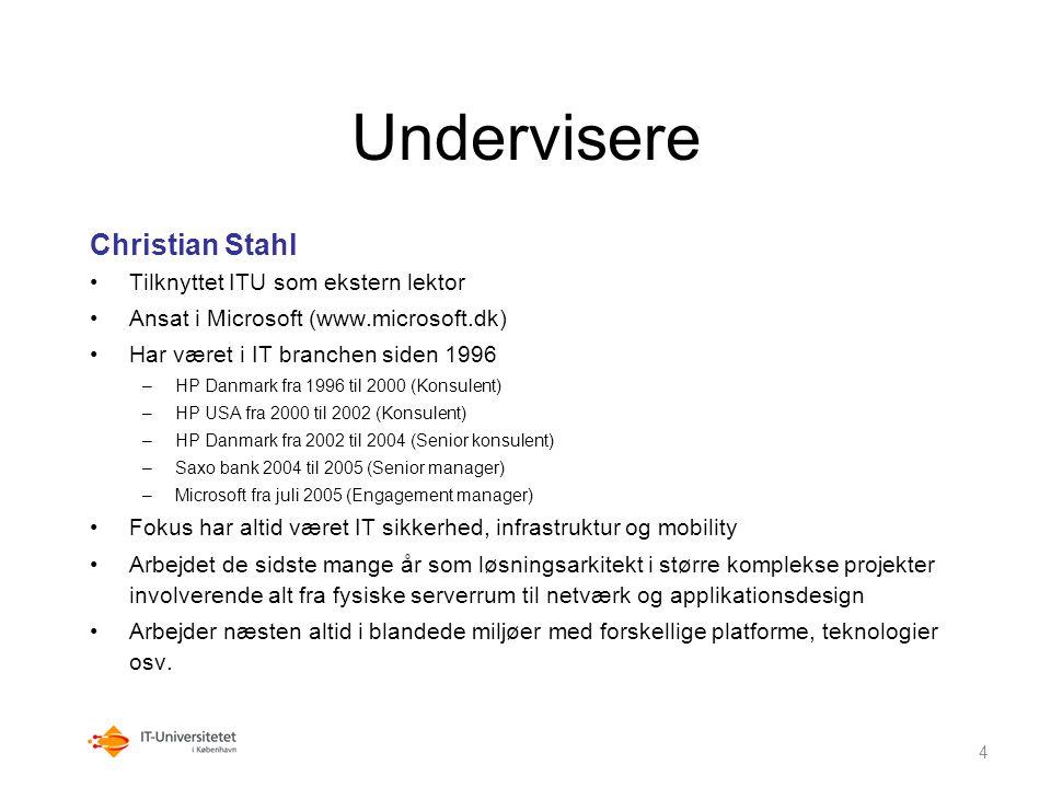 Undervisere Christian Stahl Tilknyttet ITU som ekstern lektor