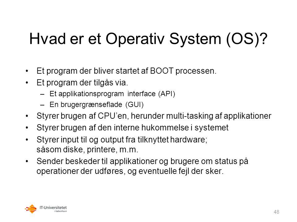 Hvad er et Operativ System (OS)