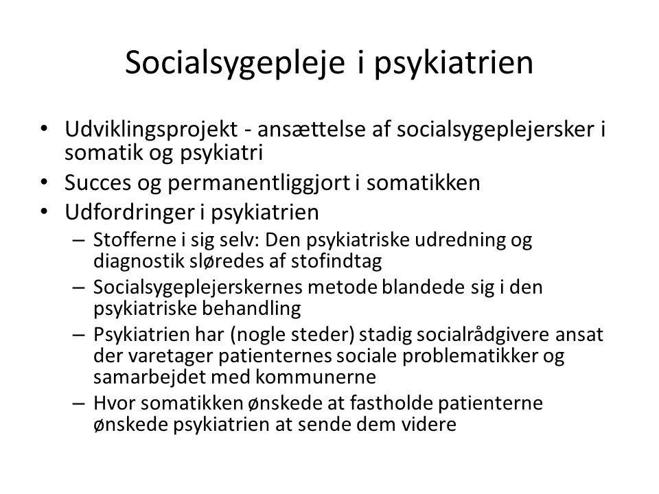 Socialsygepleje i psykiatrien