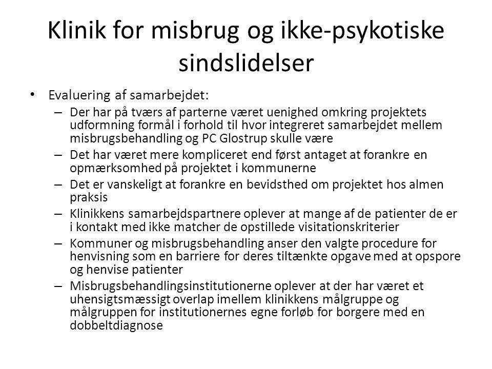 Klinik for misbrug og ikke-psykotiske sindslidelser