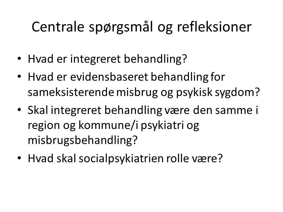 Centrale spørgsmål og refleksioner