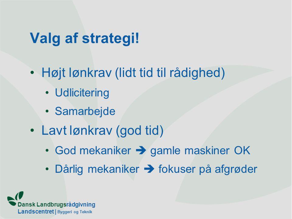 Valg af strategi! Højt lønkrav (lidt tid til rådighed)