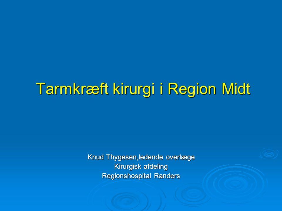 Tarmkræft kirurgi i Region Midt