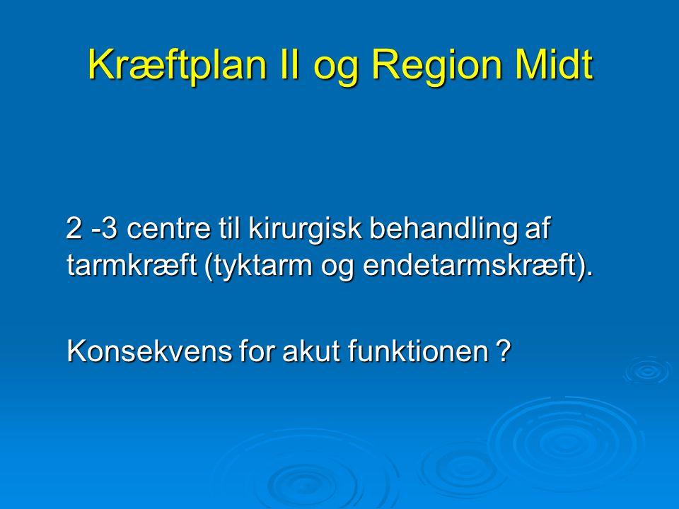Kræftplan II og Region Midt