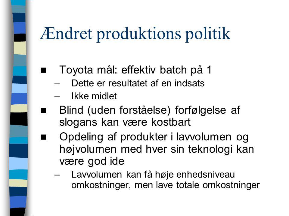 Ændret produktions politik