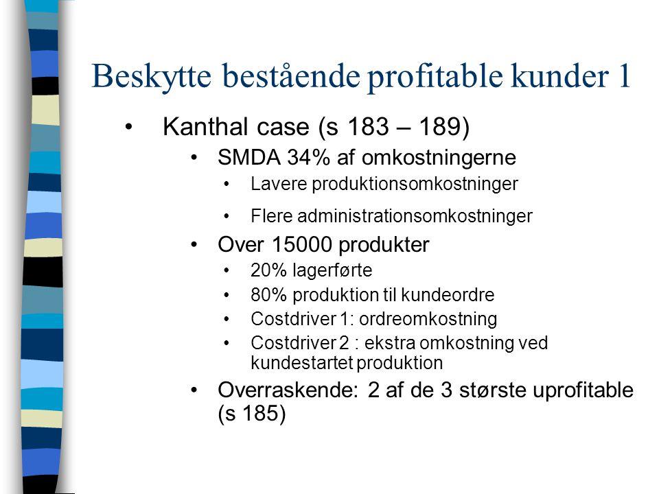Beskytte bestående profitable kunder 1