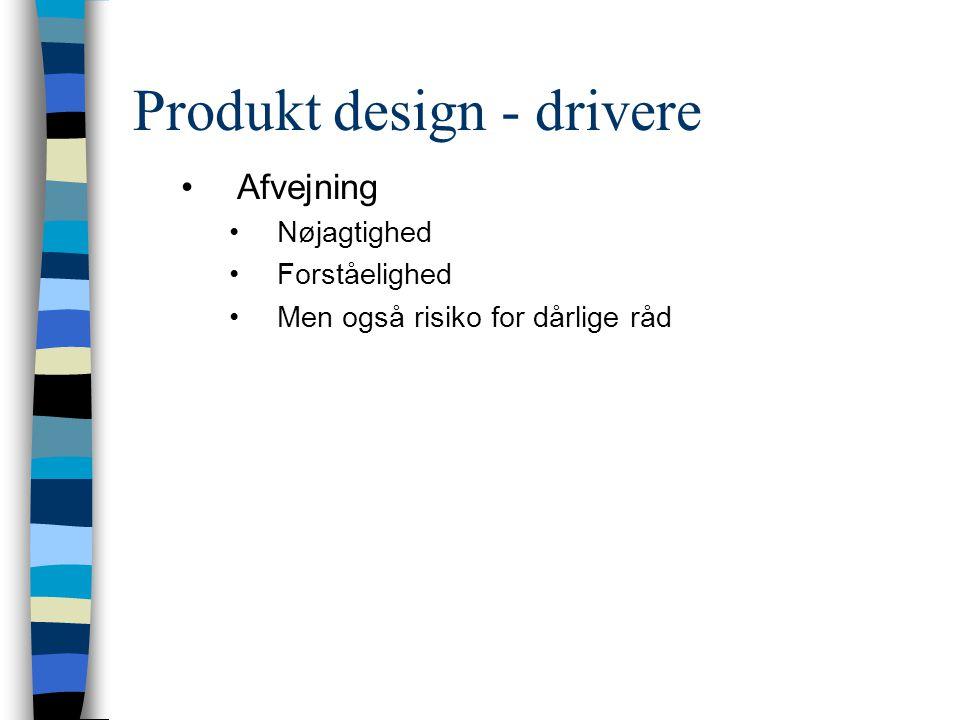Produkt design - drivere