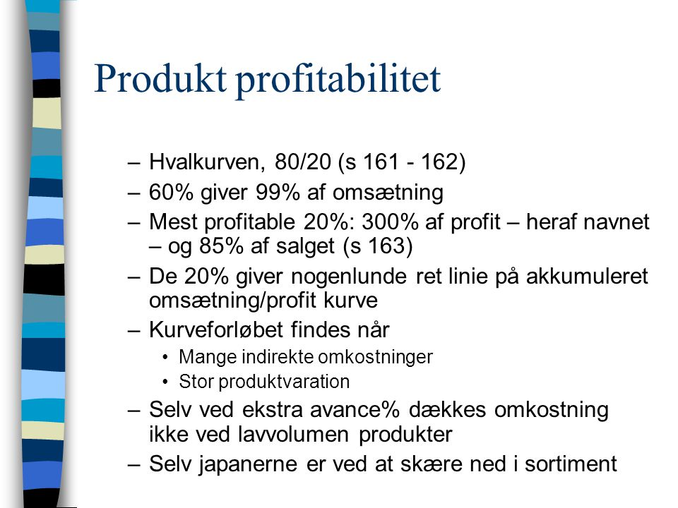 Produkt profitabilitet