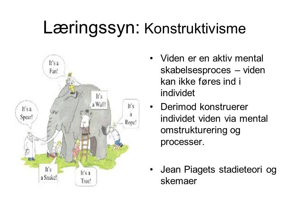 Læringssyn: Konstruktivisme
