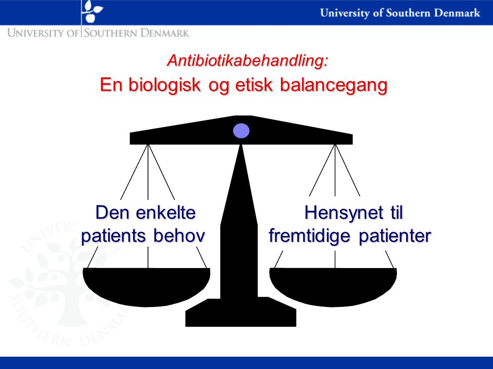 Antibiotikabehandling: En biologisk og etisk balancegang