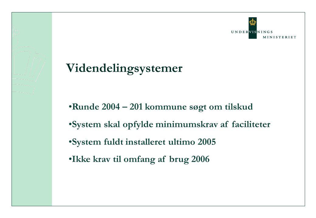 Videndelingsystemer Runde 2004 – 201 kommune søgt om tilskud