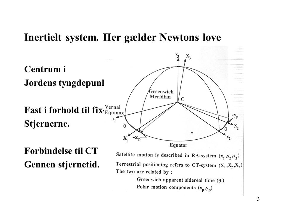 Inertielt system. Her gælder Newtons love