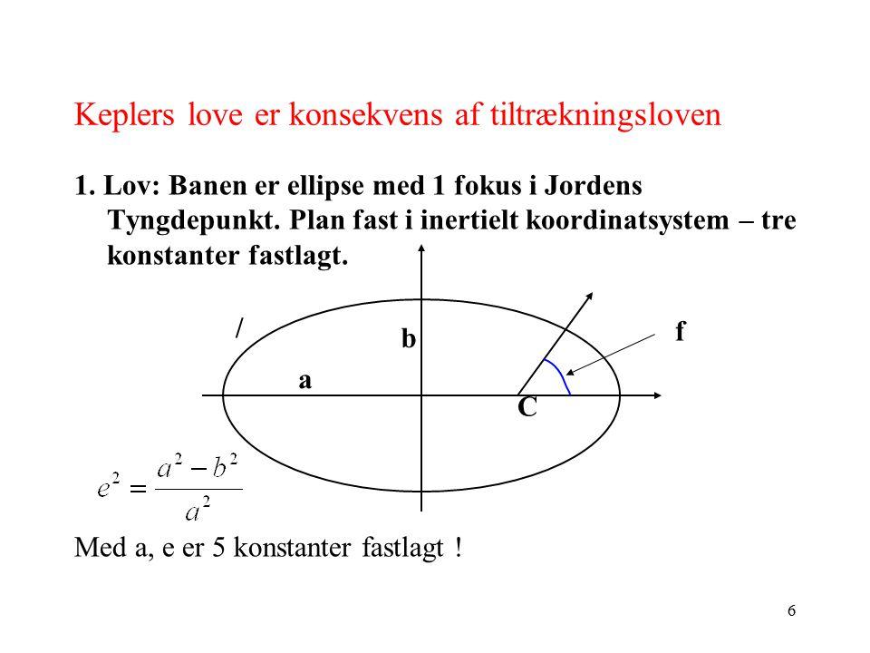 Keplers love er konsekvens af tiltrækningsloven