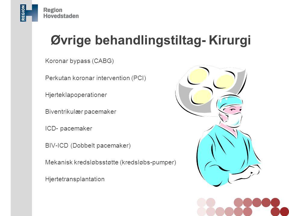 Øvrige behandlingstiltag- Kirurgi