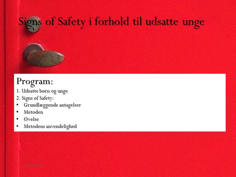 Signs of Safety i forhold til udsatte unge