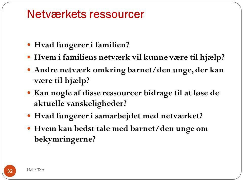 Netværkets ressourcer