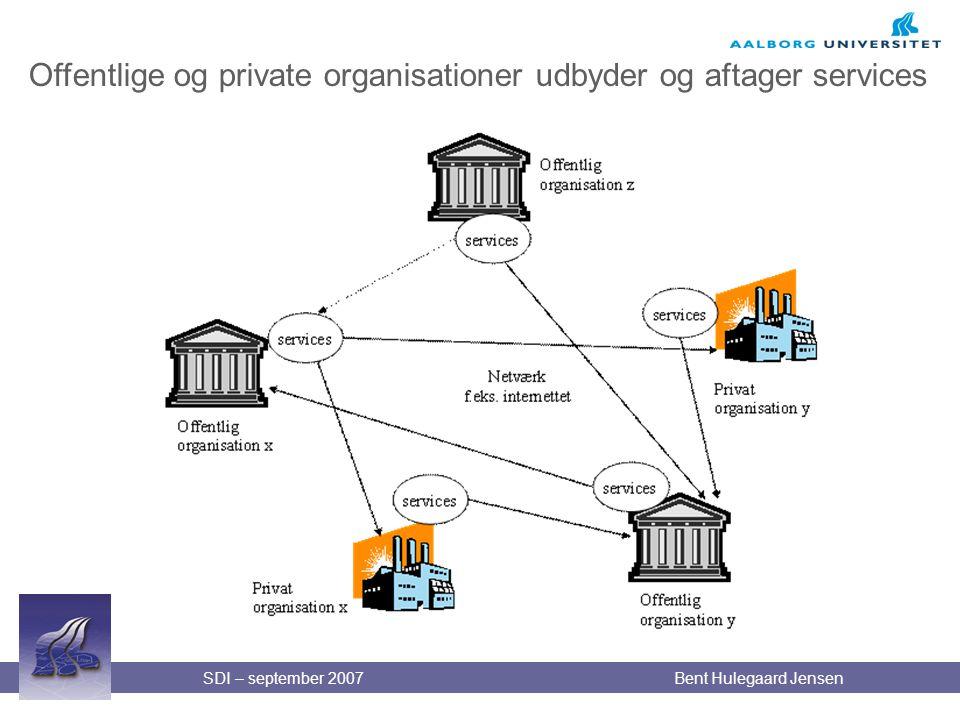 Offentlige og private organisationer udbyder og aftager services