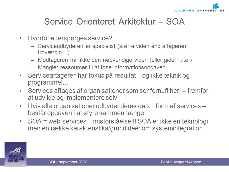 Service Orienteret Arkitektur – SOA