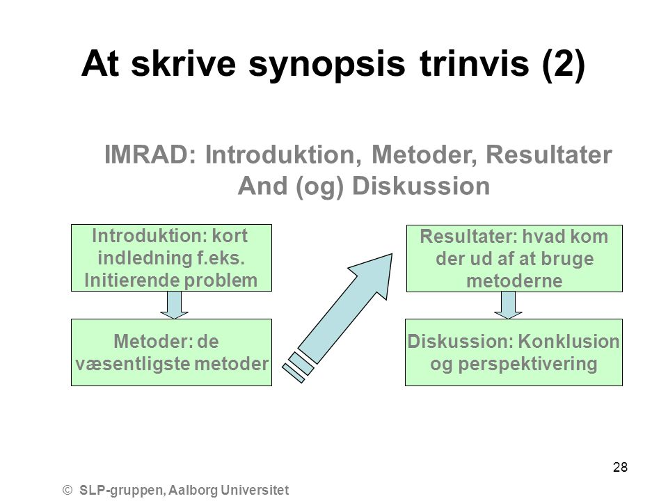At skrive synopsis trinvis (2)