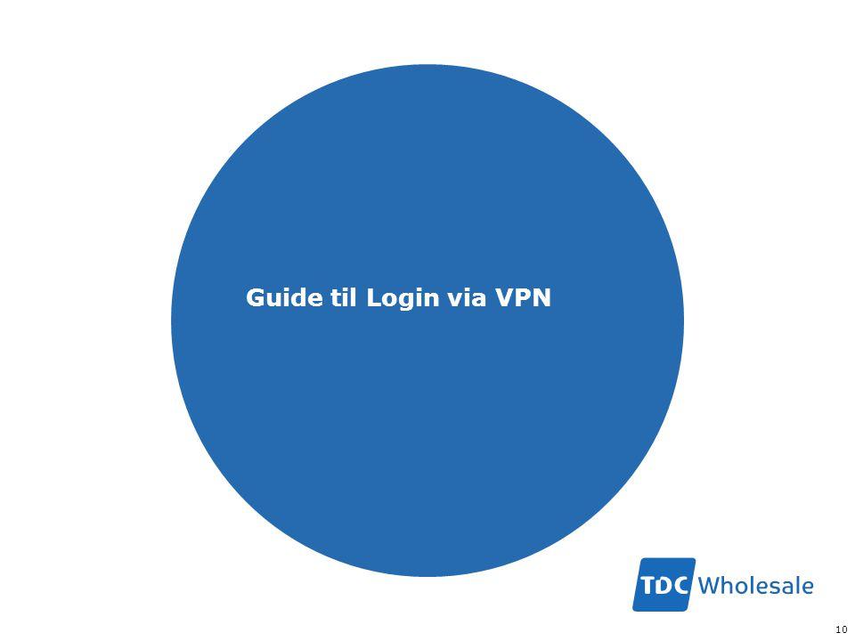 Guide til Login via VPN